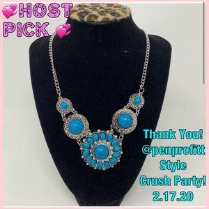 Jewelry - Beautiful Handmade Blue Stone Necklace!